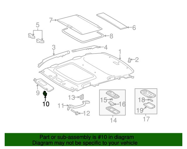 TOYOTA Genuine 74310-02B40-E0 Visor Assembly
