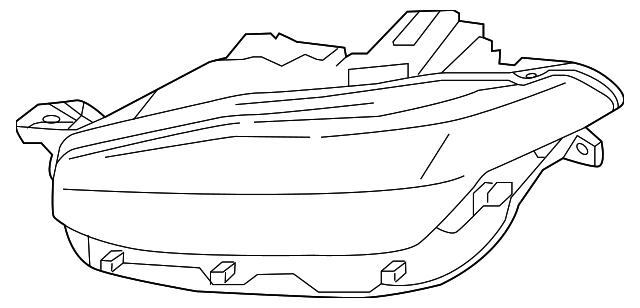 Volvo Xc90 Headlamp Assembly 32262024