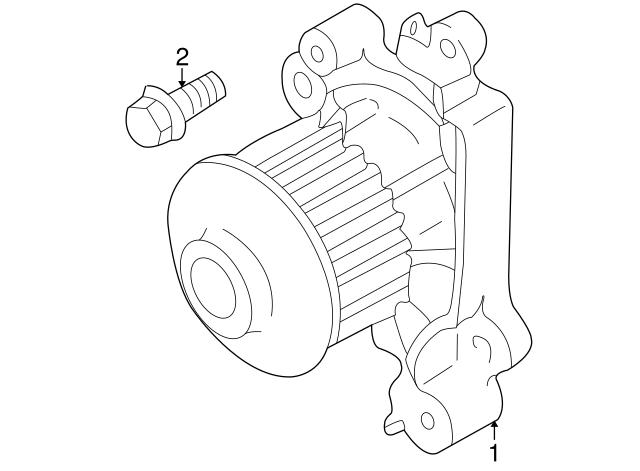 Mitsubishi Compressor Bracket Bolt Mf140225