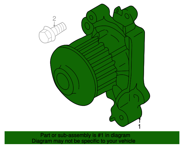 Engine Water Pump GMB 148-2520 fits 07-20 Mitsubishi Outlander 3.0L-V6
