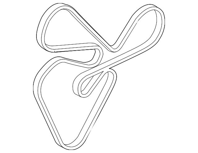 serpentine belt - kia (25212-25020)