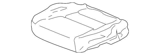 Honda Genuine 81131-SH0-A31ZA Seat Cushion Trim Cover Front Right