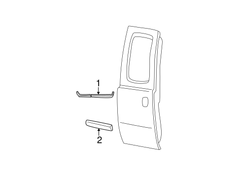 Body/Exterior Trim - Rear Door for 2001 Ford F-350 Super Duty #1