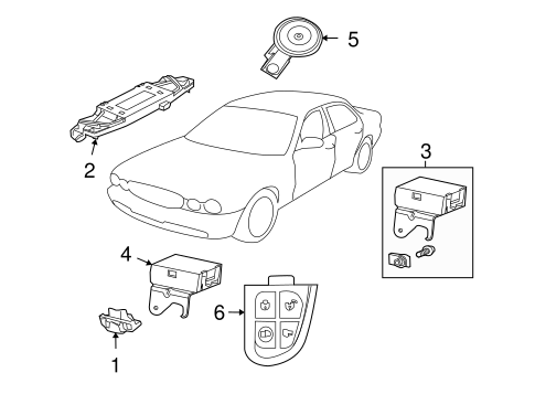 Anti Theft Components For 2004 Jaguar Xj8