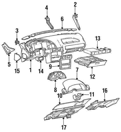 Instrument Panel For 1995 Chevrolet Beretta
