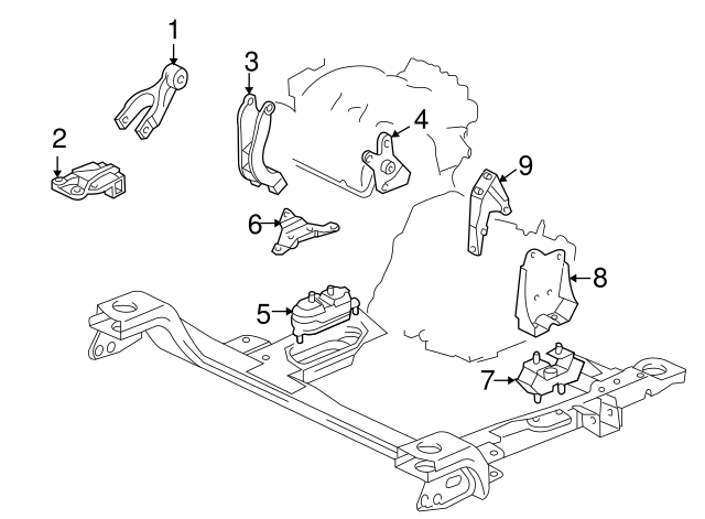 [SCHEMATICS_49CH]  Motor Mount - GM (10448575) | GMPartsDirect.com | 2007 Chevy Impala Engine Diagram |  | GM Parts Direct
