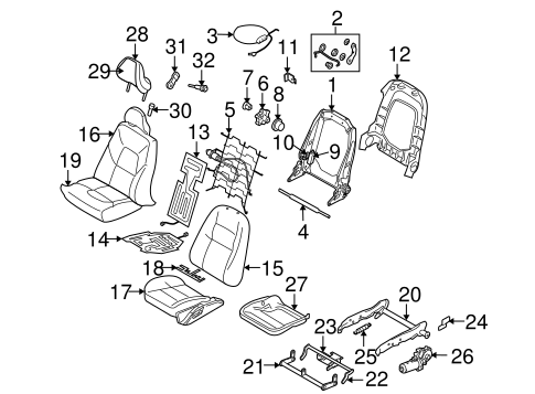 Front Seat Components For 2005 Volvo S80