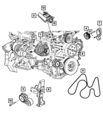 Serpentine Belt - Mopar (4627589AA)