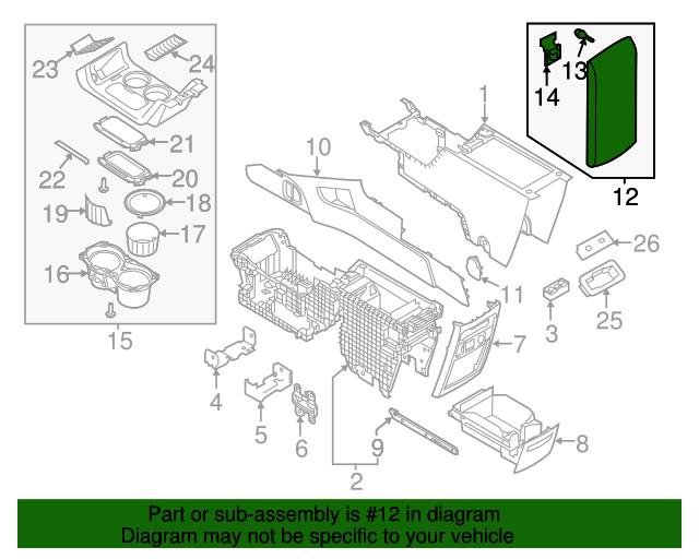 Genuine Ford Armrest FA8Z-7406024-AB