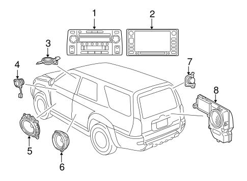 genuine oem sound system parts for 2005 toyota 4runner sr5 olathe 05 Toyota 4Runner body sound system for 2005 toyota 4runner 1
