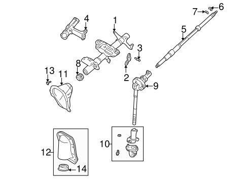 STEERING/STEERING COLUMN ASSEMBLY for 2000 Toyota Tacoma #5