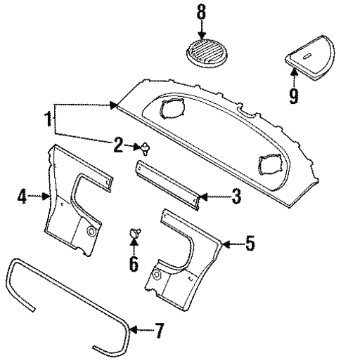 Interior Trim - Rear Body for 1996 Nissan 240SX | Jack