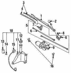Mazda DR62-67-321 Windshield Wiper Arm