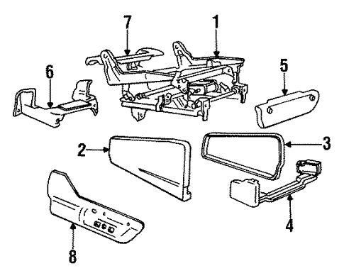 Tracks & Components for 1993 Chrysler Town & Country #0