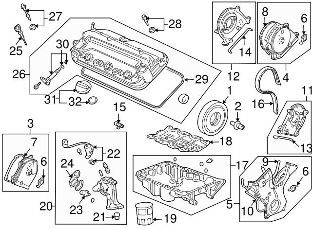 1992 2014 Honda Switch Assembly Valve Timing Oil Pressure 37250 Pr3