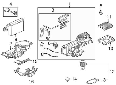 oem evaporator heater components for 2003 saturn ion. Black Bedroom Furniture Sets. Home Design Ideas