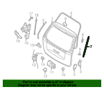Kia 81781-4D001 Hatch Lift Support