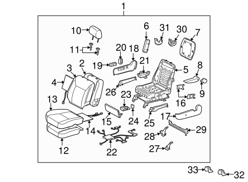 BODY/FRONT SEAT COMPONENTS for 2008 Toyota Sienna #5