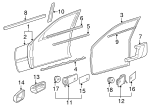 Door Weather-Strip - Mercedes-Benz (202-720-10-78)