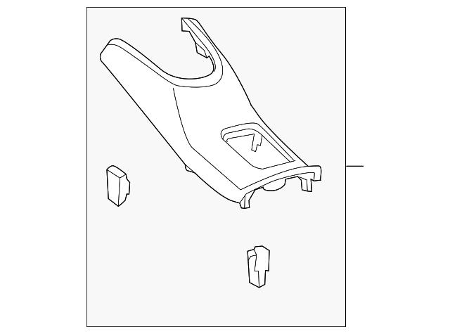 2015 2019 Toyota Prius C Console Panel 58821 52120 C0