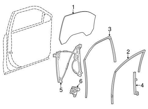 Oem 2015 Chevrolet Tahoe Front Door Parts