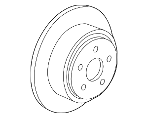 Disc Brake Rotor - Ford (YL3Z-1V125-FB)
