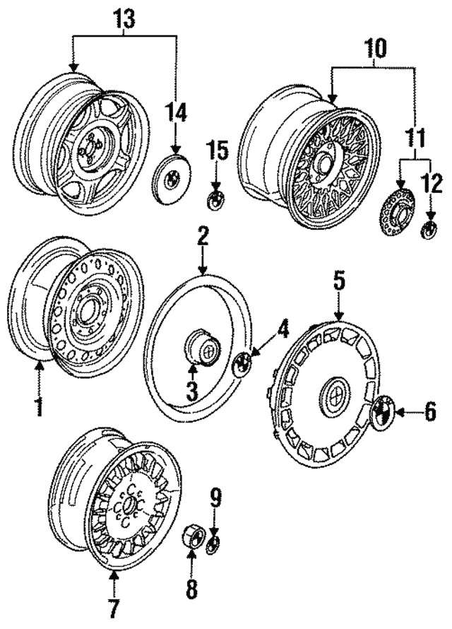 Wheel, Alloy - BMW (36-11-2-225-540)