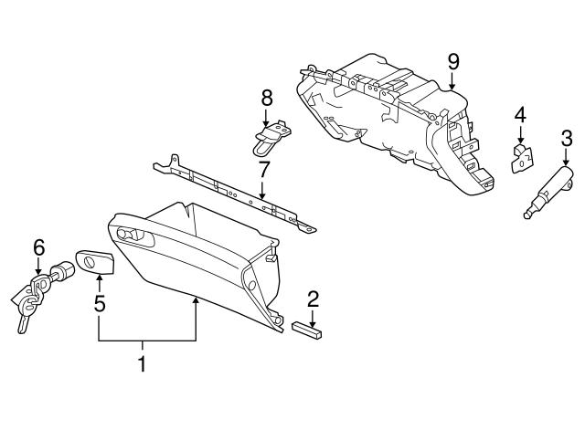 Cashmere Ivory Honda Genuine 77510-T2F-A01ZA Glove Box Assembly