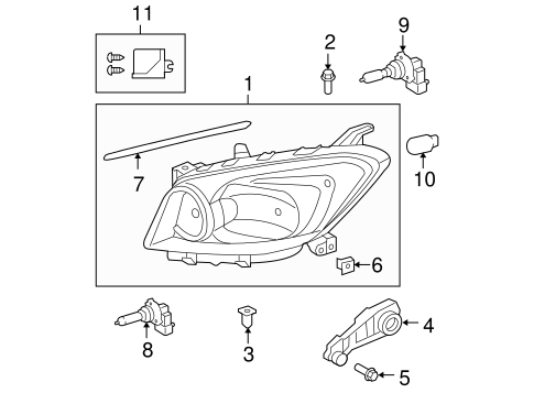ELECTRICAL/HEADLAMP COMPONENTS for 2011 Toyota RAV4 #1