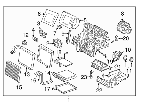 Evaporator Components For 2015 Ford Escape