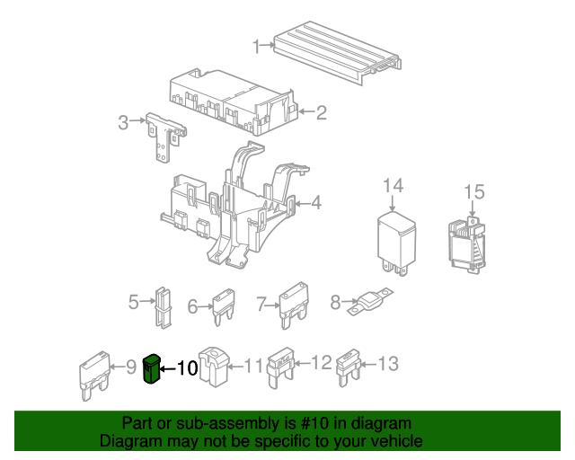 circuit breaker genuine ford 2l5z 14526 aa autonation ford white bear lake parts. Black Bedroom Furniture Sets. Home Design Ideas