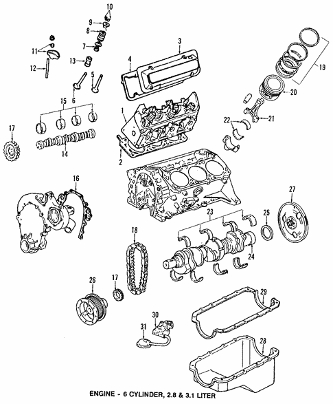 oem 1988 oldsmobile cutlass supreme engine parts parts gm parts club Chevrolet 153 4- Cylinder Engine engine parts parts for 1988 oldsmobile cutlass supreme 1