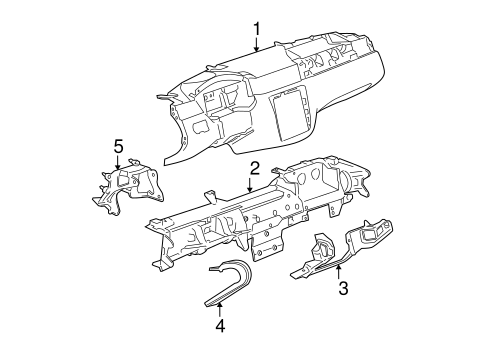 Oem 2013 Chevrolet Impala Instrument Panel Parts