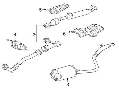 Genuine Oem Exhaust Components Parts For 2008 Toyota Sienna Limited