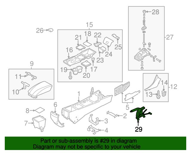 Genuine Hyundai 46720-3S000-RY Gear Shift Lever Knob Assembly