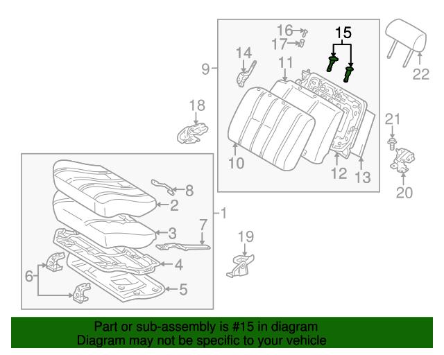 TOYOTA Genuine 71930-13030-B2 Headrest Support