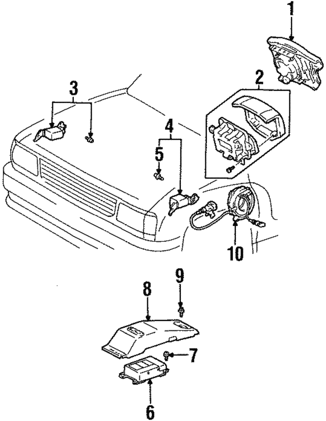 1994 1998 Toyota T100 Driver Inflator Module 45130 34031 B2