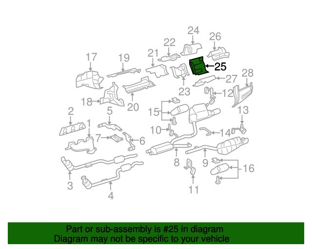 Heat shield mercedes benz 204 680 21 22 genuinenew for Mercedes benz part numbers list