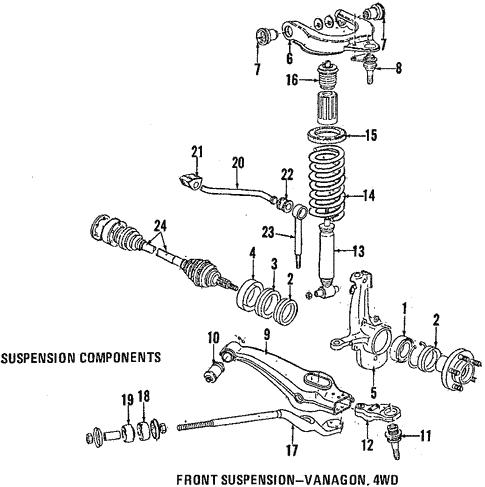 OEM VW Suspension Components for 1991 Volkswagen Vanagon