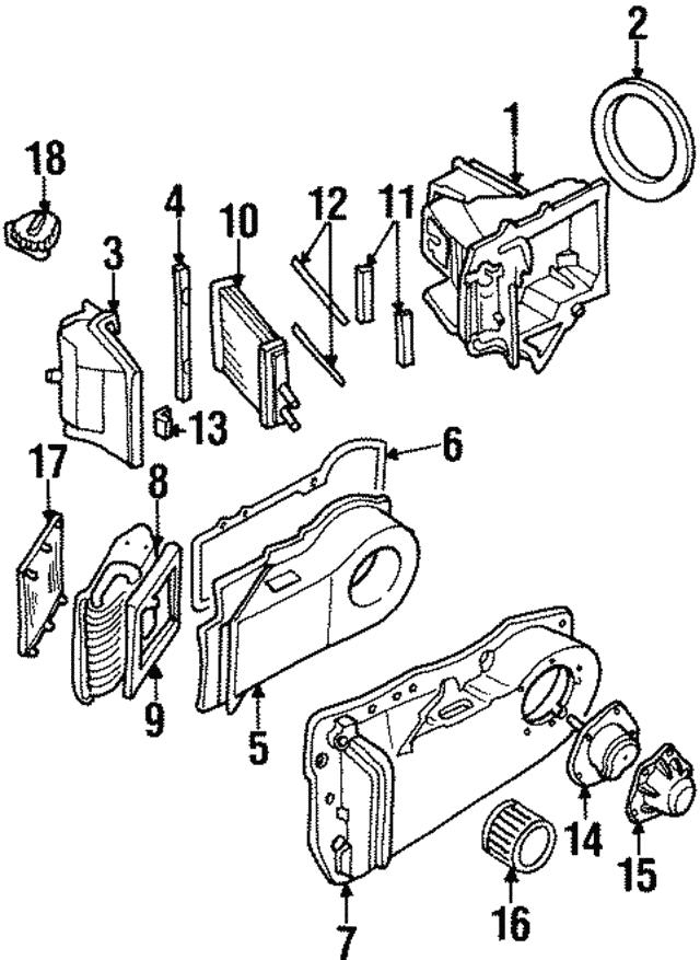 1992 2005 Gm Heater Core Seal 52470751