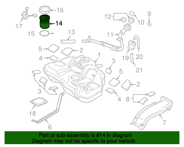 Mazda Fuel Pump Diagram