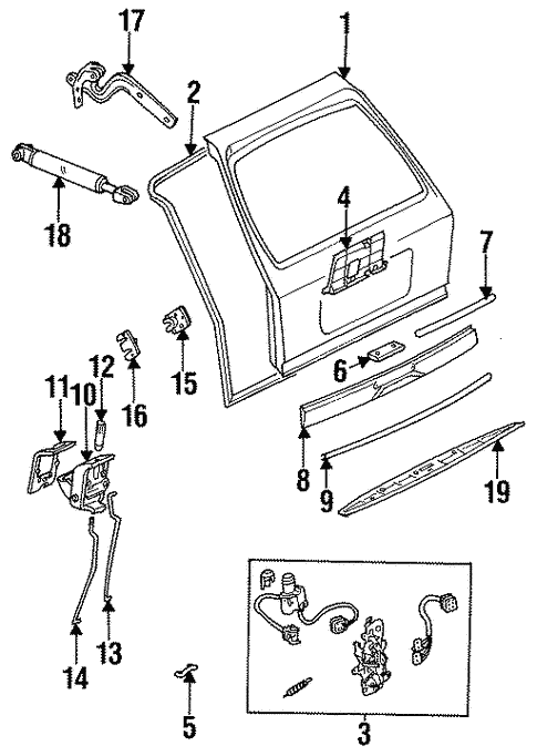 Liftgate for 1995 Mercedes-Benz E 320 #0