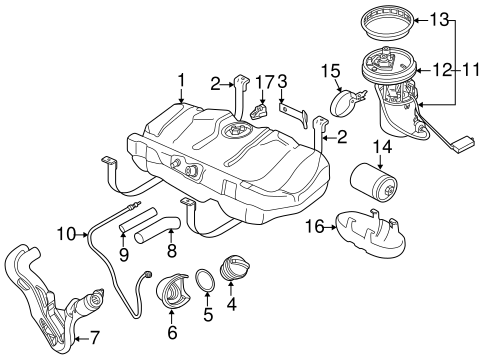 Emission Components For 2005 Saab 9 5