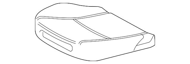 TOYOTA Genuine 71512-52560 Seat Cushion Pad