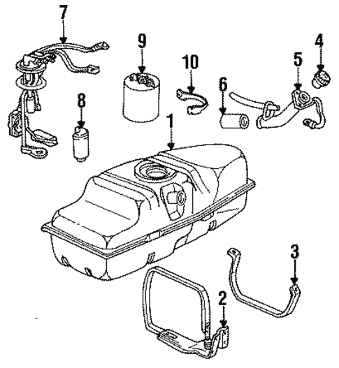 Fuel System Components For 1991 Chevrolet S10