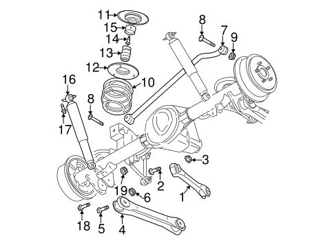 Rear Suspension For 2004 Jeep Wrangler
