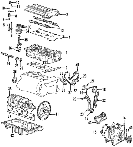 oem 2003 saturn ion engine parts