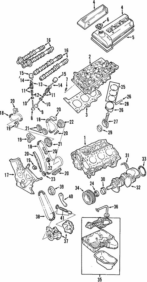 [SCHEMATICS_4PO]  OEM Engine for 2002 Chevrolet Tracker | GMPartsCenter.net | Chevy V6 Engine Parts Diagram |  | GMPartsCenter.net