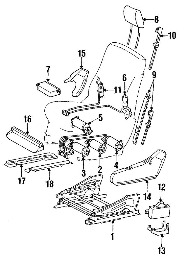1992 1999 Mercedes Benz Adjust Motor 140 820 40 42