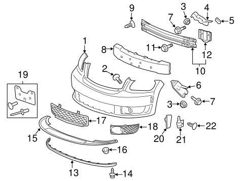 Bumper Components Front For 2009 Chevrolet Hhr Gm Parts Online